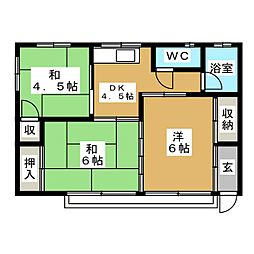 大里アパート[2階]の間取り