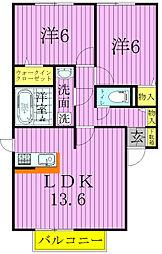 ポルトボヌール[A101号室]の間取り