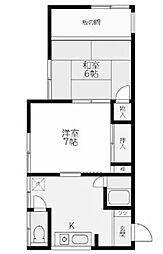第二日興荘[2階]の間取り