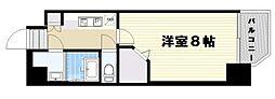 ミラージュパレス梅田グランツ 2階1Kの間取り