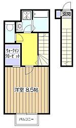 東京都小平市大沼町2丁目の賃貸アパートの間取り