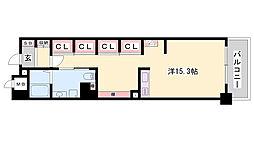 JR東海道・山陽本線 姫路駅 バス10分 元町3丁目下車 徒歩4分の賃貸マンション 7階ワンルームの間取り