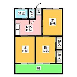 筑紫ハイツ[1階]の間取り