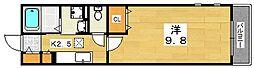 リナッセ東山[1階]の間取り