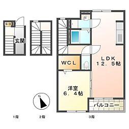 コートハウス安塚[3階]の間取り