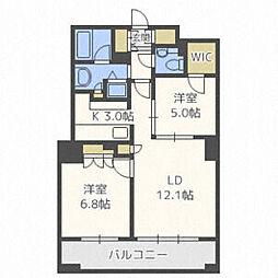 JR千歳線 札幌駅 徒歩5分の賃貸マンション 20階3LDKの間取り