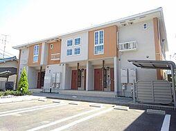 愛知県北名古屋市九之坪下葭田の賃貸アパートの外観