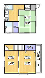 [テラスハウス] 埼玉県草加市西町 の賃貸【/】の間取り