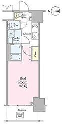JR総武線 飯田橋駅 徒歩5分の賃貸マンション 5階1Kの間取り