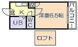 レジデンス津福本町Ⅲ[102号室]の間取り