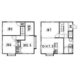 [一戸建] 静岡県浜松市東区北島町 の賃貸【/】の間取り