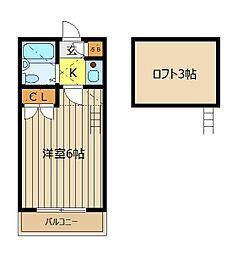 ローズハイツ朝霞[2階]の間取り