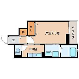 静岡県静岡市葵区上足洗2丁目の賃貸マンションの間取り