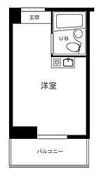 ロイヤル石川町[4階]の間取り