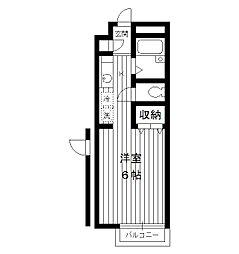 東京都新宿区中落合の賃貸アパートの間取り