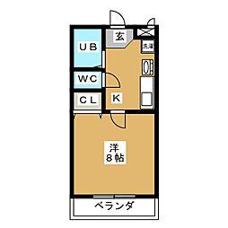 パールマンションIII[2階]の間取り