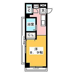 ドミールS・K[3階]の間取り