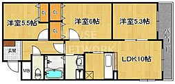 サンシャイン中川[601号室号室]の間取り