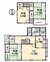 [一戸建] 愛媛県松山市東野5丁目 の賃貸【/】の間取り