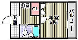 ユウパレス取石[1-J号室]の間取り