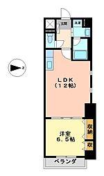 愛知県名古屋市瑞穂区瑞穂通3丁目の賃貸マンションの間取り