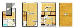 [一戸建] 大阪府大阪市港区磯路3丁目 の賃貸【/】の間取り