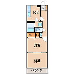 福島県福島市東浜町の賃貸アパートの間取り