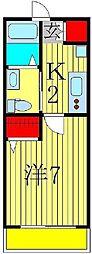 千葉県柏市増尾台2の賃貸アパートの間取り