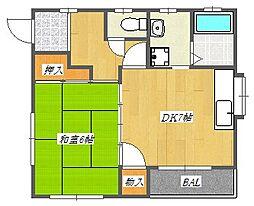 久野マンション[3階]の間取り