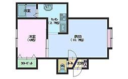 北海道札幌市手稲区富丘二条7丁目の賃貸アパートの間取り