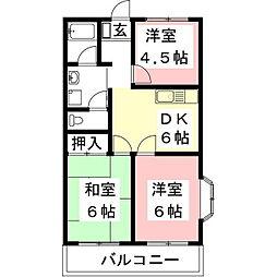 グランドハイム21[1階]の間取り