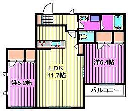 埼玉県さいたま市桜区桜田1丁目の賃貸アパートの間取り