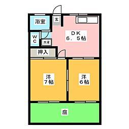 コーポワタナベ[1階]の間取り
