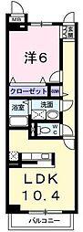 埼玉県川口市弥平3丁目の賃貸マンションの間取り