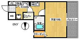 M'PLAZA住吉公園弐番館[9階]の間取り