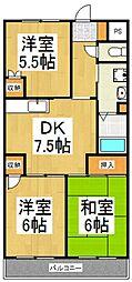 パークヒル10番館[2階]の間取り