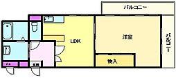 ライブコート三国ヶ丘[4階]の間取り