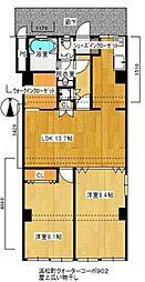 浜松町クオーターコーポ[902号室]の間取り