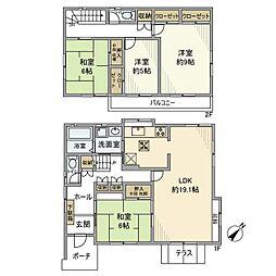 [一戸建] 千葉県柏市中原1丁目 の賃貸【/】の間取り