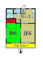 セキハイツ[2階]の間取り
