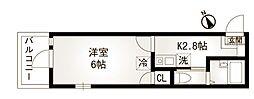 ドエル・カルム大口[103号室]の間取り