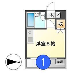 キャッスル新栄[4階]の間取り