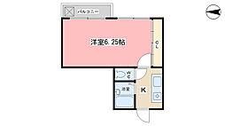 パーパス紫竹[2-C号室]の間取り