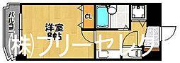 ソレイユ竹下[4階]の間取り