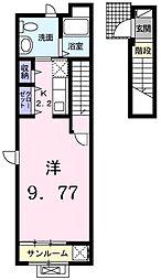 フェリオ津久野[2階]の間取り