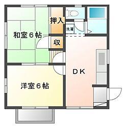 千葉県習志野市東習志野8丁目の賃貸アパートの間取り