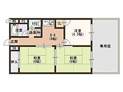 泉ヶ丘コーポラスA棟[1階]の間取り