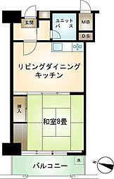 熱海サニーハイツ 3階1DKの間取り
