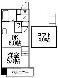 AMS8東札幌[901号室]の間取り
