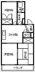 沖野マンション[3階]の間取り